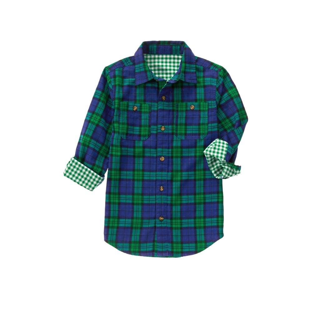 Crazy 8 Boys' Big Double Weave Woven Shirt