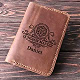 Dungeon Master Leather Passport Holder, Passport Cover, Dungeon and Dragons Personalized Passport Wallet, D&D Personalized Passport Cover, Gamer Gift, Gift for Traveler, Passport Case. Geek Gift k44