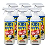 KIDS 'N' PETS Brand - Stain & Odor Remover, 6 pack, 32 fluid ounce bottles (192 fluid ounces total)