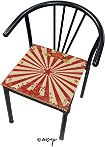 """YOLIYANA Comfort Memory Foam Square Chair Cushion A Wonderful with Red Sunbeams for Home Softness Chair Pads 16"""" x 16"""""""