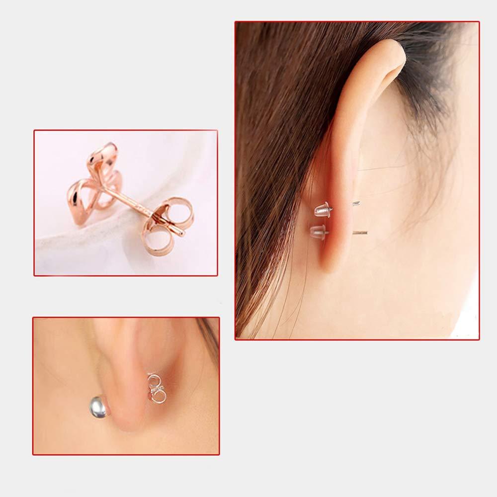Limeo Ohrmuttern Silikon Klar Gummi Ohrring Silikon Ohrstecker Ohrring Stopper Kunststoff Ohrring Stopper Transparente Ohrstecker Ohrring Stopper Verschluss Earring Backs Ohrring(Ungef/ähr 450)