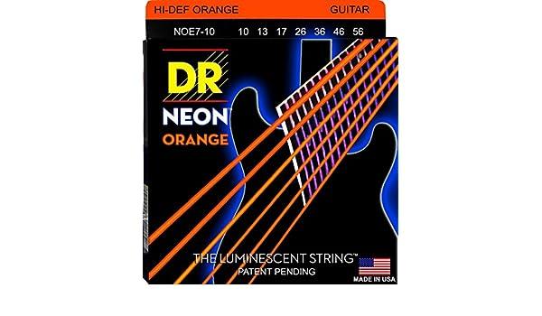 DR NOE7-10 NEON HiDef Orange Electric 7-string, medium: Amazon.es: Instrumentos musicales