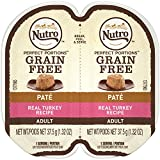 Nutro PERFECT PORTIONS Pate Real Turkey Wet Cat Food Tray, 2.65 Ounces (24 Twin Packs)