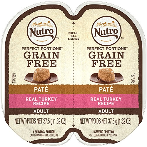 Nutro Perfect PORTIONS Pate Real Turkey Wet Cat Food Tray, 2
