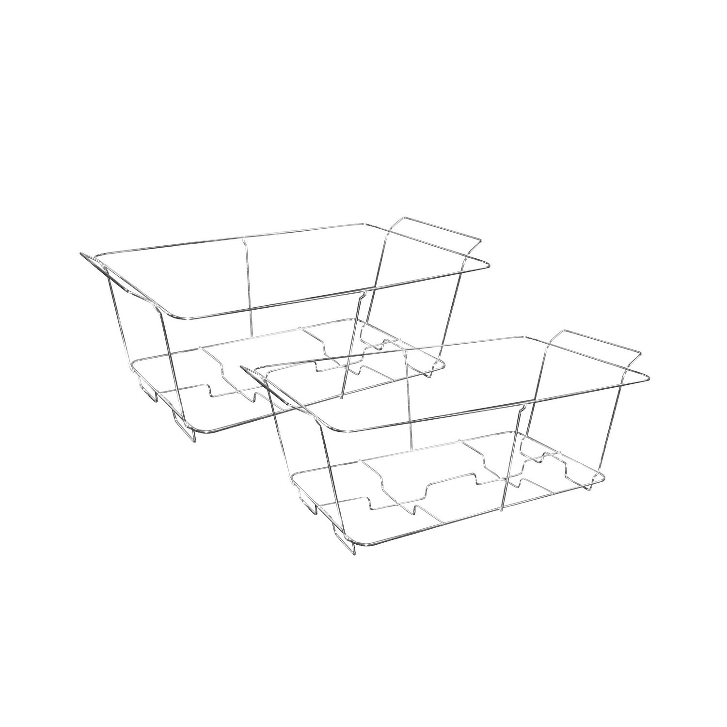 Party Essentials 2-Count Full Size Deluxe Chafing Racks, Chrome
