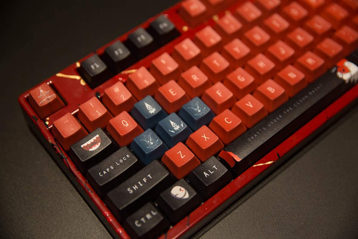 OEM//Cherry Height SSSLG PBT Keycaps Mechanical Keyboard Keycaps 87//104//108 Keycaps Clown Suitable for Cherry MX Switch,87