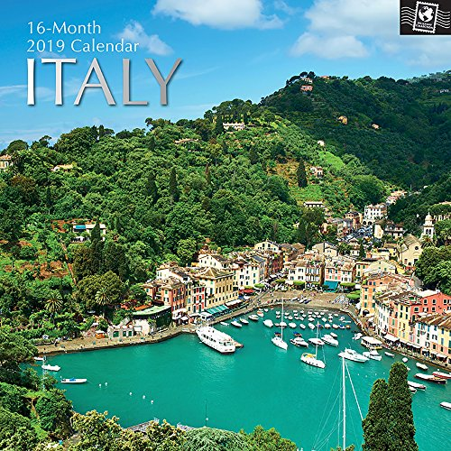 - 2019 Wall Calendar - Italy Calendar, 12 x 12 Inch Monthly View, 16-Month, Travel and Destination Theme, Includes 180 Reminder Stickers