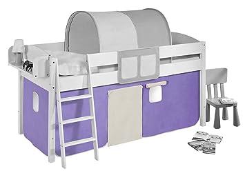Vorhang Für Etagenbett : Vorhang lila beige für hochbett spielbett und etagenbett