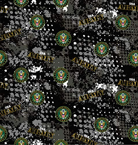 US Military Cotton Fabric with Abstract Geometric Design-Sold by The Yard (Army) ()