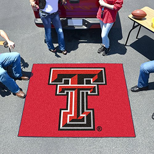 FANMATS NCAA Texas Tech University Red Raiders Nylon Face Tailgater Rug ()