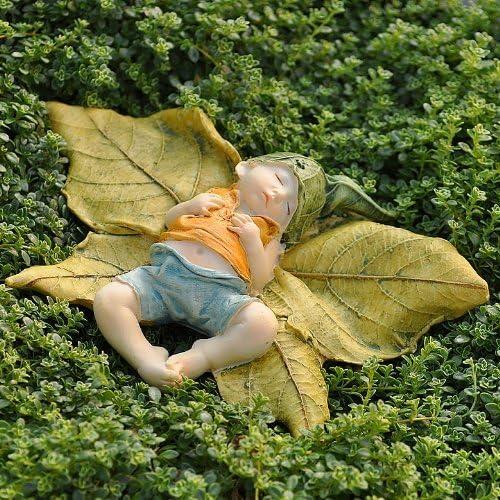 Georgetown Home /& Garden Miniature Fairy Garden Leaf Baby With Shirt