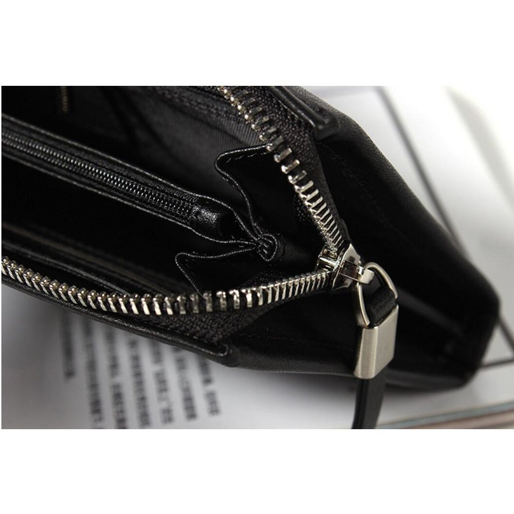 Luxury Leather Clutch Bag JUNBOSI Mens Hand Bag Large Capacity Business Clutch Bag Mens Wallet Multi-function Card Package