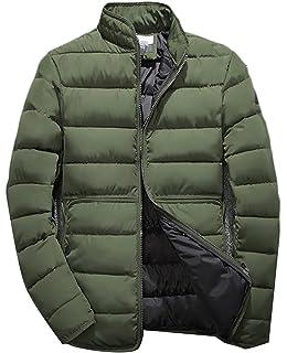 Etecredpow Mens Casual Lightweight Slim Zip Up Stand Collar Puffer Down Jackets Coat