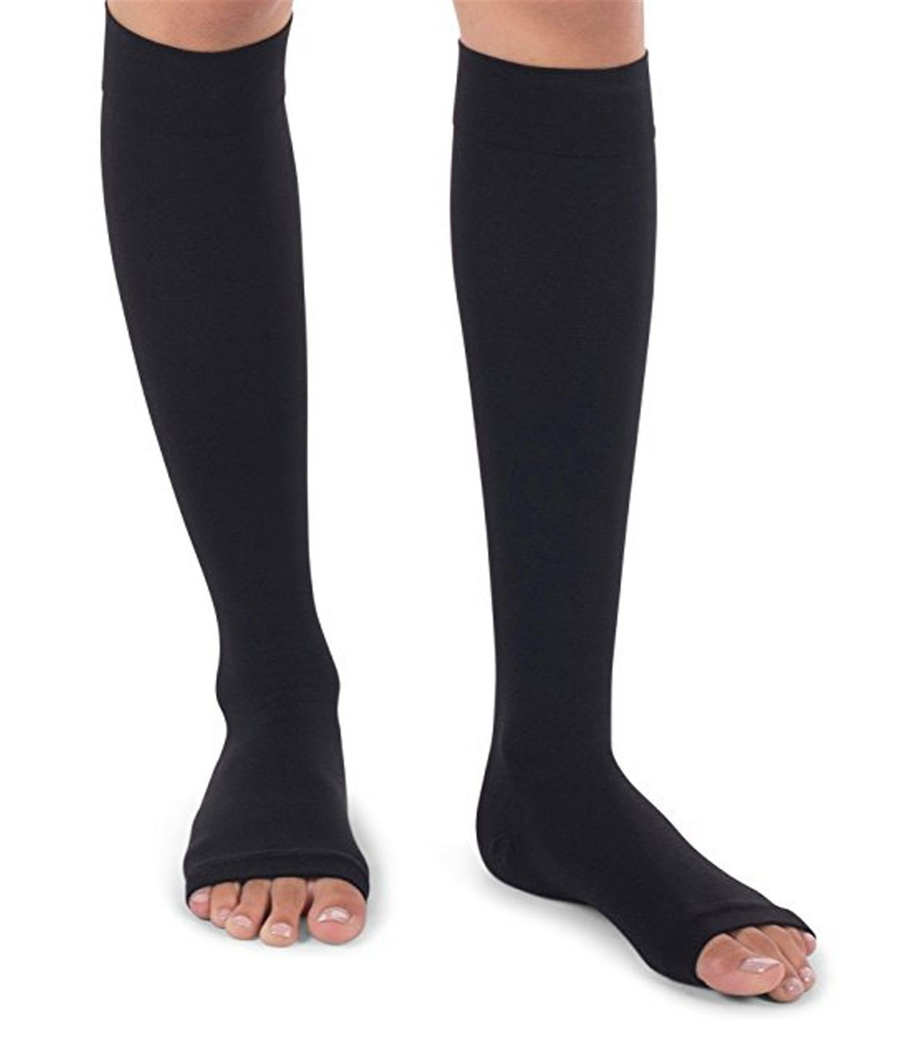 1821a6206 Amazon.com  Runee High Quality 15-20 mmHg Medical Open Toe Compression Sock  Knee High Hosiery Stocking For Swelling