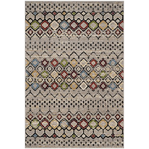 Safavieh Amsterdam Collection AMS108G Southwestern Bohemian Light Grey and Multi Area Rug (3' x ()