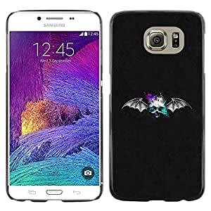 Planetar® ( Bat Skull ) Samsung Galaxy S6 / SM-G920 / SM-G920A / SM-G920T / SM-G920F / SM-G920I Fundas Cover Cubre Hard Case Cover
