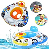 [Free Shipping] Kids Baby Inflatable Pool Seat Float Boat Swimming Wheel Horn // Niños bebé asiento piscina inflable cuerno rueda nadar barco flotante