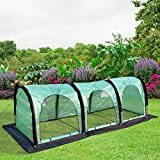 PHI VILLA Pop Up Greenhouse-Flower Plant Greenhouse 118'' x 39''x 39'' (Black)