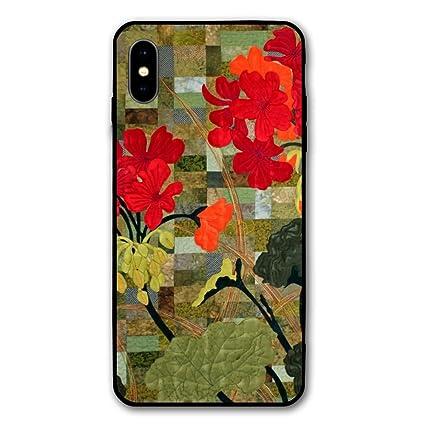 iPhone X Fall iPhone 10 Fall Schöne Geranien Blumen Malerei