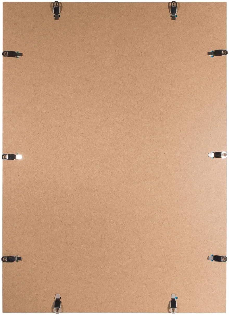 posters ou des puzzles DR24 light Cadre /à clips sans bordure 20x20 cm avec paroi arri/ère en MDF et vitre en verre synth/étique antireflet cadre sur mesure sans bord pour par exemple des photos