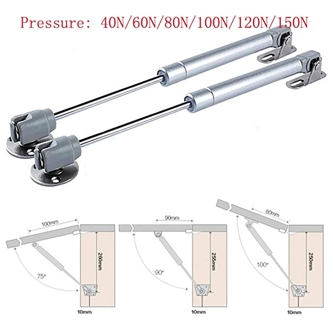 soporte neum/ático para levantar la puerta mueble para puerta de armario con bisagra de cierre suave Estante hidr/áulico de resorte de gas