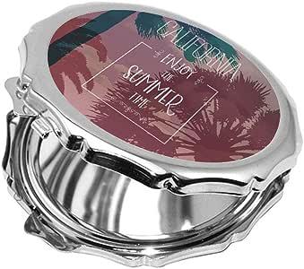 مرآة جيب، بطبعة تمتع بالصيف ، شكل دائري