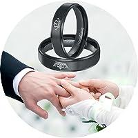 Alianza de boda de acero inoxidable con diseño