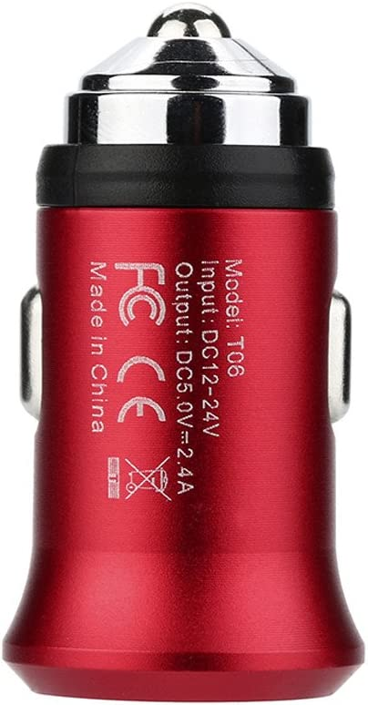 Blue Charberry 2019 Dual USB 2.4A Metal Car Charger Fast Charging Adapter For iPhone For