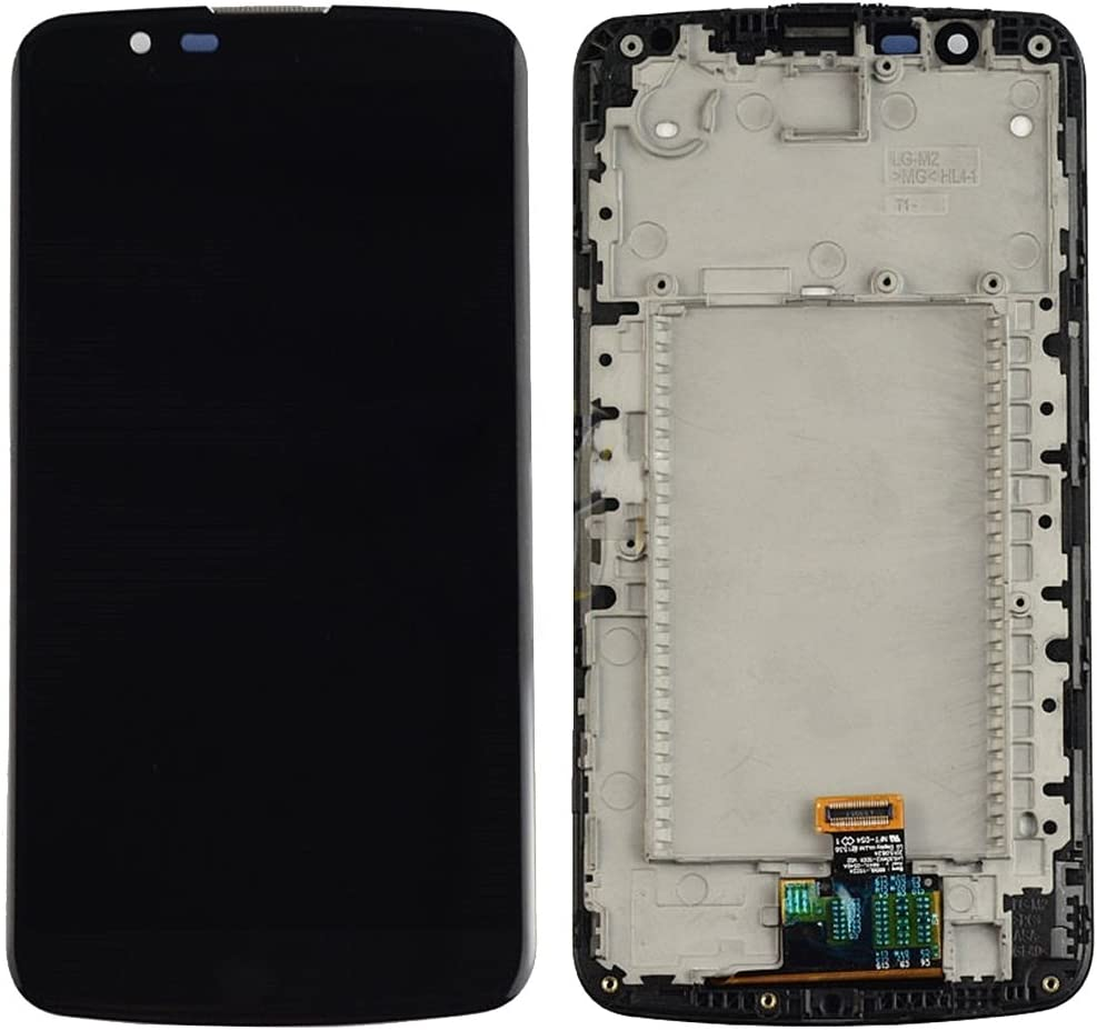 Broken Touch Screen Digitizer Assembly with Frame Replace The Old Ctghgyiki Touch Screen Panel, IPartsBuy for LG K10 LCD Screen Color : Black Damaged One Replacement Cracked