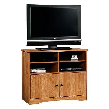 Amazon Com Beginnings Highboy Tv Stand In Highland Oak By Sauder
