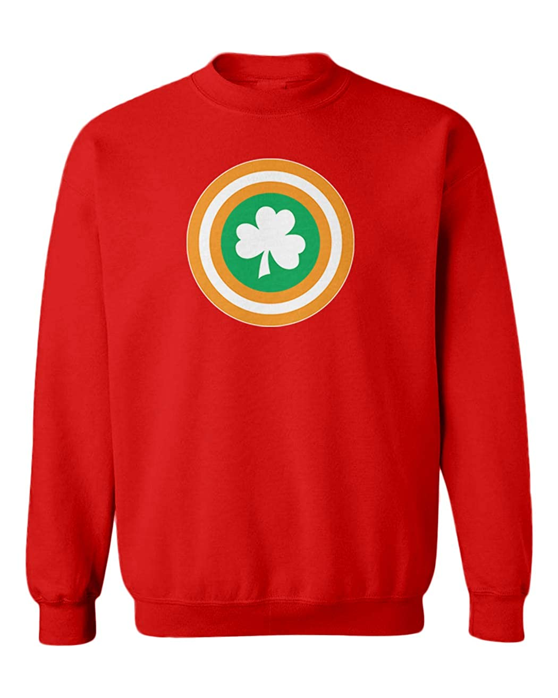 Tcombo Captain Ireland Parody Superhero Youth Fleece Crewneck Sweater