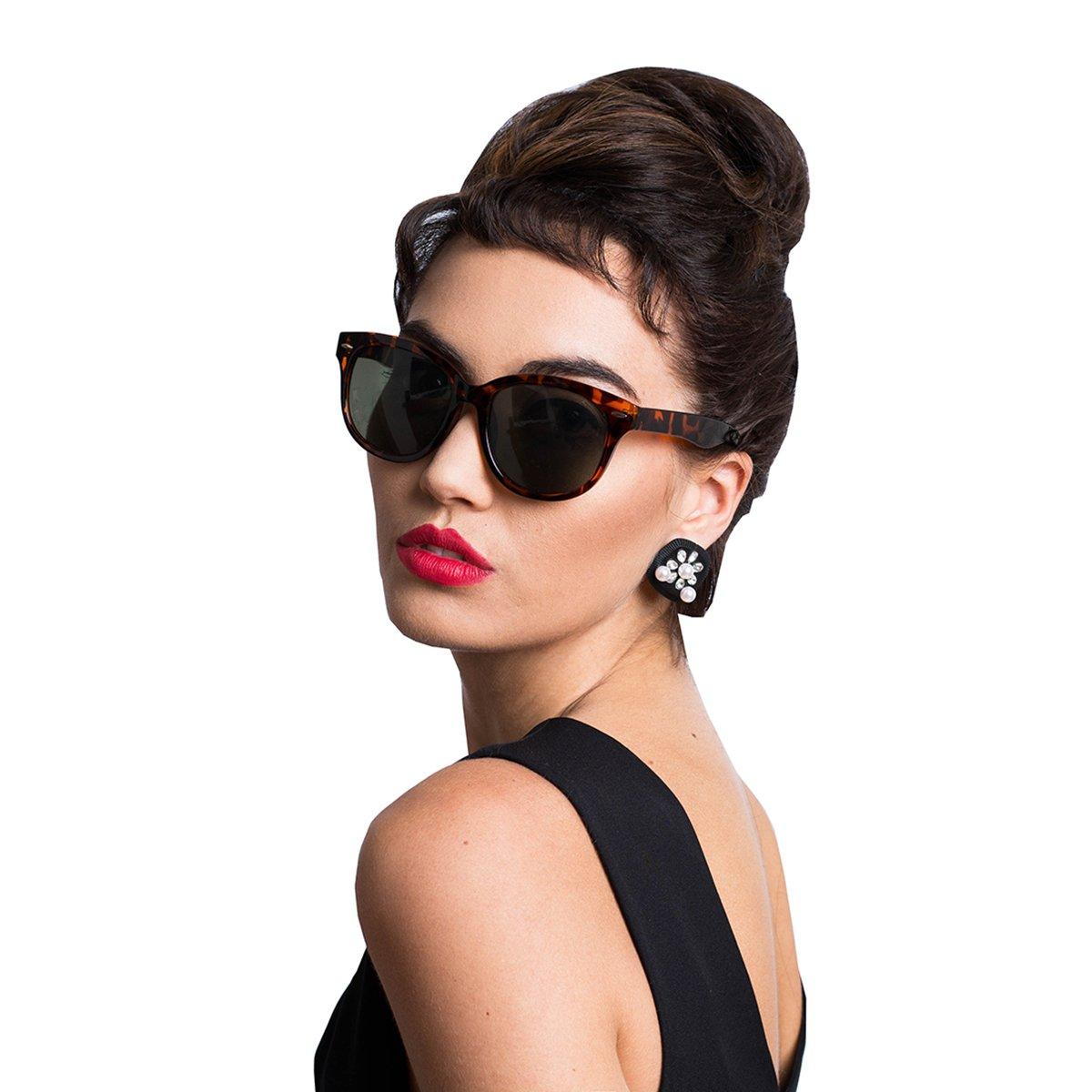 l'atteggiamento migliore 29f37 8498e Audrey Hepburn Breakfast at Tiffany's Cat-Eyed Sunglasses Vintage Retro  Costume Tortoiseshell