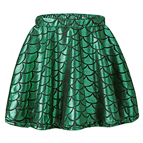 TFJH E Toddler Girls Party Dress up Skirt Children Cosplay Halloween Costume Green Skirt M]()