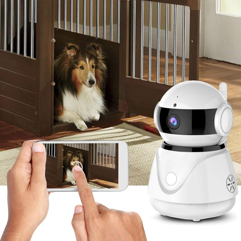 Security Camera Wireless IP Camera 1080P HD WiFi Home Surveillance Video IP Camera with Alexa Echo Pan/Tilt Two -Way Audio Night Vision for Pet Elder Baby Nanny Home Office Monitor by Lstiaq (Image #3)