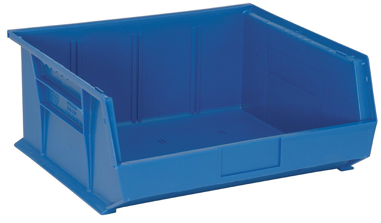 Quantum Storage Systems K-QUS250BL-2 Plastic Storage Stacking Ultra Bin, 14'' x 16'' x 7'', Blue (Pack of 2)