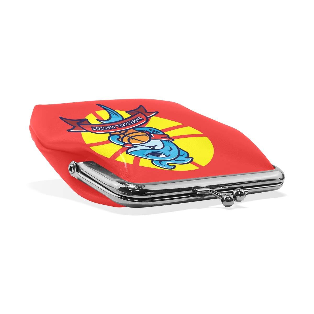 LALATOP Basketball Mascot Womens Coin Pouch Purse wallet Card Holder Clutch Handbag