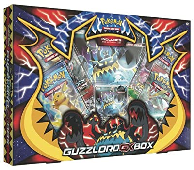 TCG: Guzzlord-GX Box | Sun and Moon Ultra Beast Collectible Trading Set |, Features 4 Booster Packs, 1 Rare Guzzlord-GX, Playable Promo Foil Card