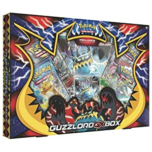 Pokemon TCG: Guzzlord-GX Box | Sun and Moon Ultra Beast Collectible Trading Set |, Features 4 Booster Packs, 1 Rare Guzzlord-GX, Playable Promo Foil Card and 1 Guzzlord-GX Oversized Foil Card