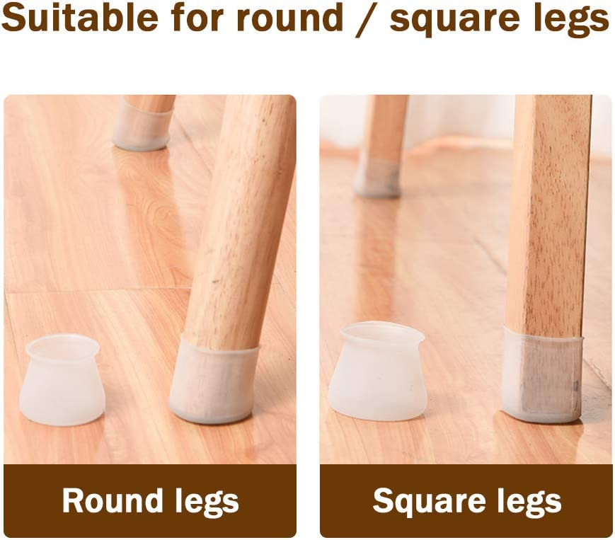 Silicone Chair Leg Floor Protectors Furniture Silicon Protection Cover Prevent Scratches and Noise,32PCS Chair Feet Protectors