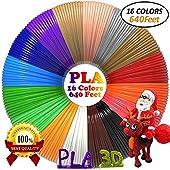3D Pen/3D Printer Filament(16 Colors, 320 Feet) Bonus 250 Stencils eBooks 3D Pen Filament 1.75mm PLA