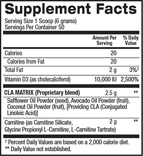 BPI Sports Cla + Carnitine Non Stimulant Weight Loss Supplement Powder