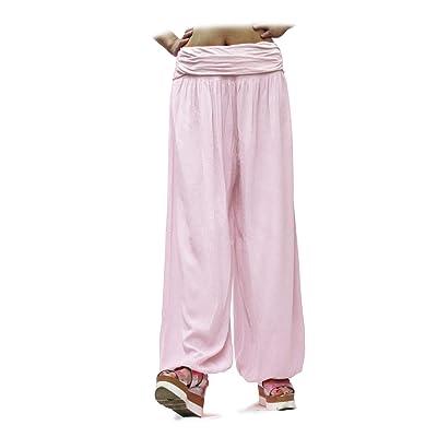 Glamexx24 Pantaloni Donna Bloomers Harem Pantaloni per il Tempo Libero Pantaloni estivi Pantaloni con Motivo Floreale: Ropa y accesorios