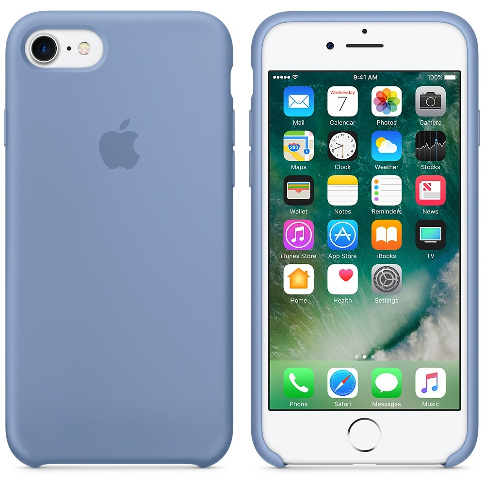 Apple Silicone Case for iPhone 7 - Azure