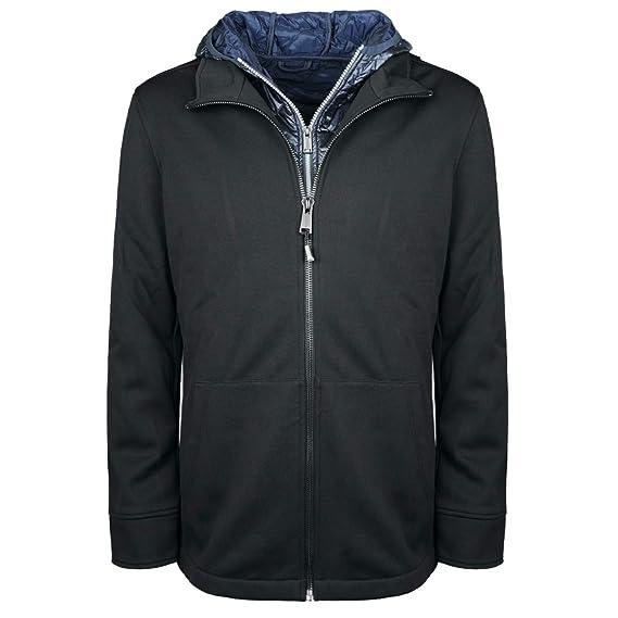 da54c9d4d3357 Guess Blouson Homme 2 en 1 Hybrid Noir  Amazon.co.uk  Clothing