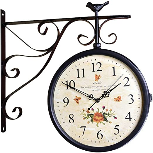 Multi-Purpose Clock 10 Inch Innovative Stylish Temperature and Humidity Meter Wall Clock Wall Decor Clock with Silent Scanning Movement for Living Room Bedroom Regular in Size