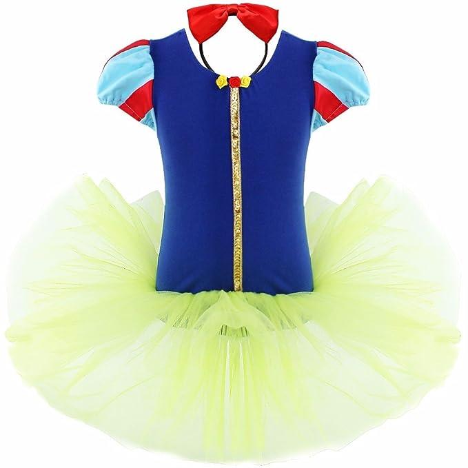 iEFiEL Disfraces de Princesa para Niña Bebé Vestido de Fiesta Danza Actuación con Braga Interior Azul