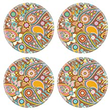 Liili Natural Rubber Round Coasters Image ID 19130500 Seamless pattern based on traditional Asian elements Paisley