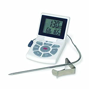 CDN DTTC-W Combo Probe Thermometer, Timer & Clock - White