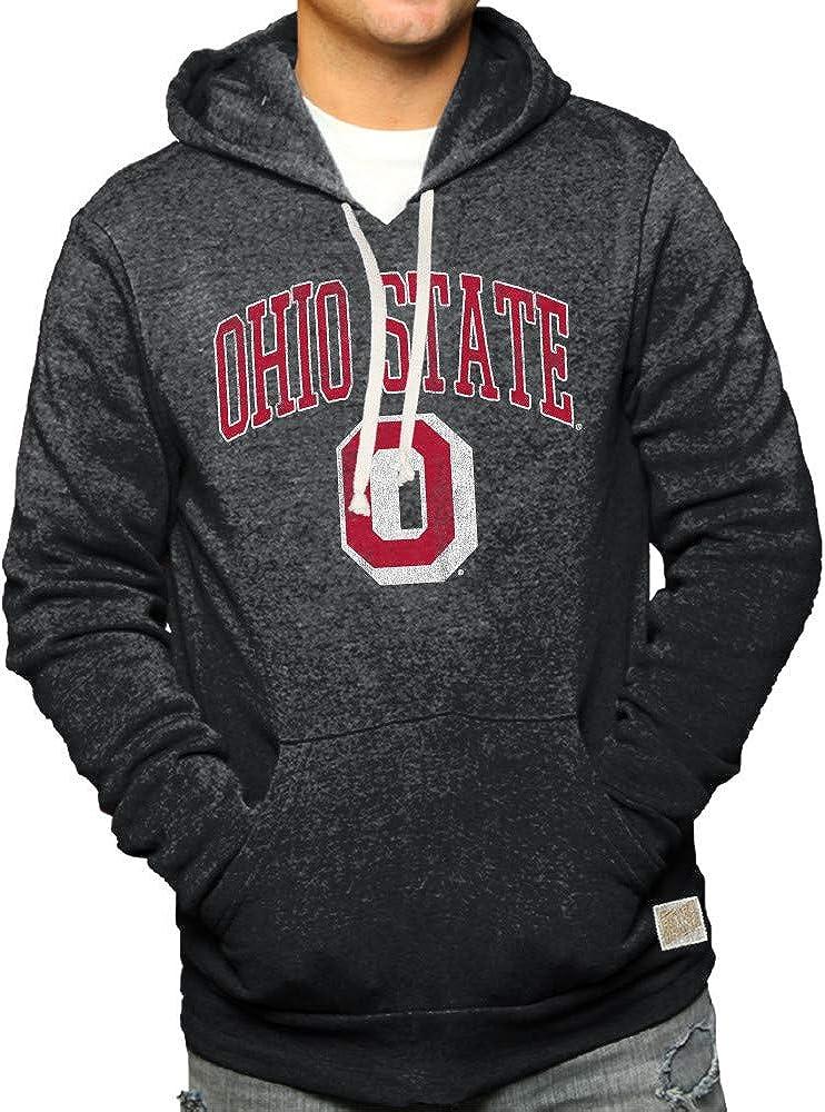 Elite Fan Shop NCAA Mens Retro Hoodie Sweatshirt Charcoal
