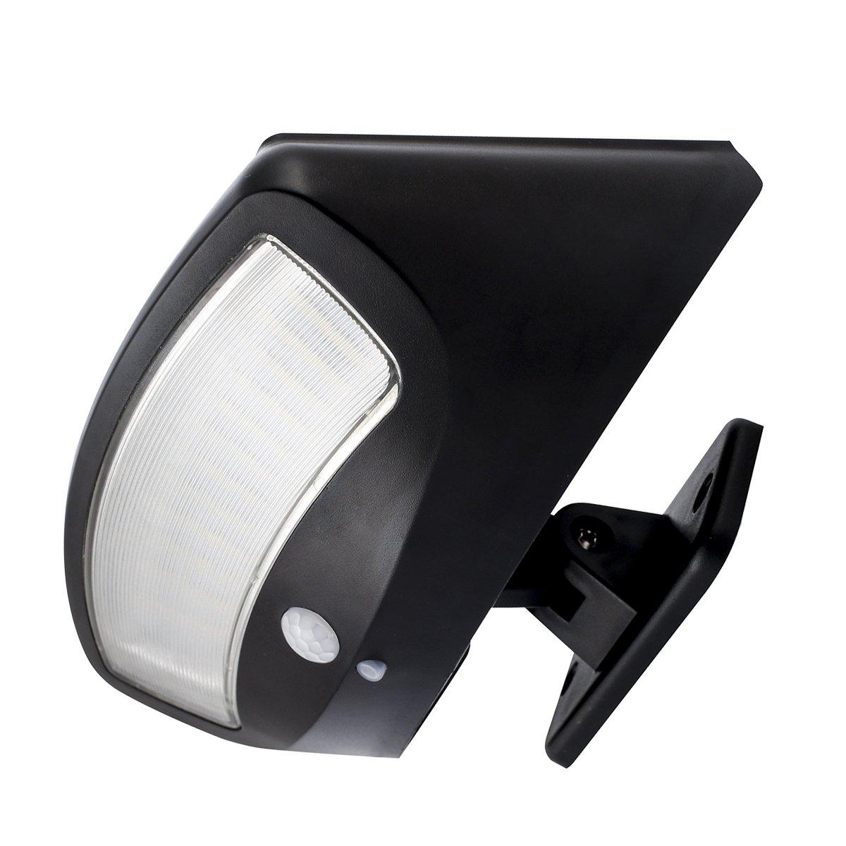Solar Lights Outdoor Motion Sensor Security Lights, Super Bright 36 LED 600 lm,4 Mode Wireless Waterproof Solar Powered Flood Lights Wall Lights for Patio,Driveway, Garden (Black, 1 Pack)